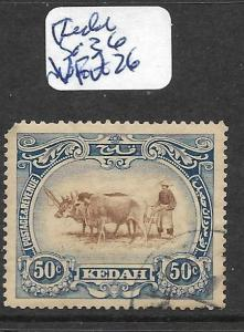 MALAYA KEDAH (P2301B)  COW 50C SG36  VFU
