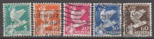 Switzerland #210-4 F-VF Used CV $11.10 (B11568)