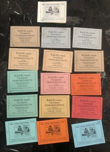Greenland Private Stamp Booklets DAKA 1-16 PF-G1-16 Collection Lot MXE