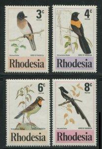 Rhodesia 1977 Sc 375-378 Birds Wydah Shrike