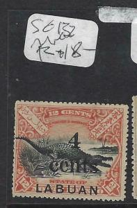 LABUAN (P1303B)  4C/12C  CROCODILE SG 132   MNG