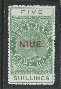 NIUE 1918-20 5s YELLOW-GREEN MM SG 32 CAT £110