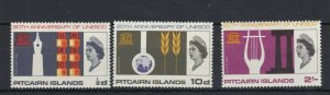 PN88) Pitcairn Islands 1966 20th Anniversary of Unesco MUH