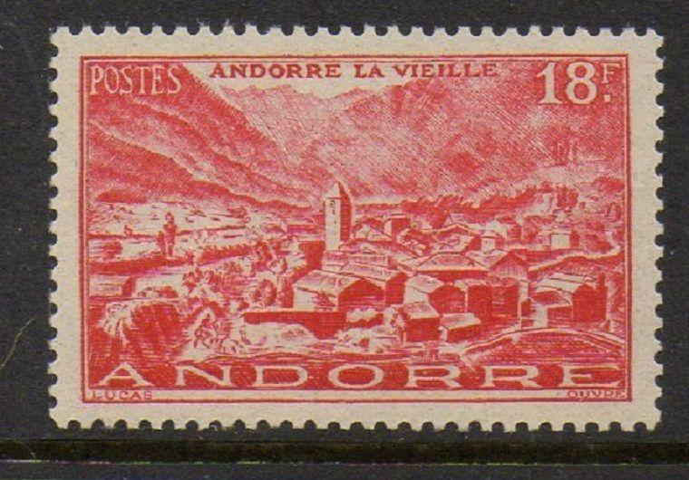 Andorra French 1951 Old Town VF MNH (122)