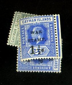 CAYMAN ISLANDS #MR1-2 MR7 MINT F-VF OG LH Cat $23