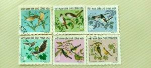 VIETNAM 1973 BIRDS  IN FINE CTO CONDITION.