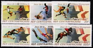 Central African Republic. 1982 Complete Set(6v) Unmounted Mint