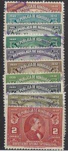 HONDURAS C89-98 USED SCV $7.45 BIN $3.00 PEOPLE