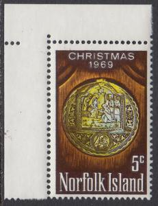 Norfolk Is. 125 MNH - Christmas 1969