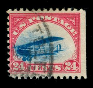 MOMEN: US STAMPS #C3 USED FAST PLANE VARIETY