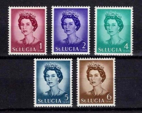 St Lucia 1964-69 Elizabeth II Definitive Partial Set
