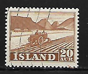 ICELAND, 259, USED, TRACTOR PLOWING