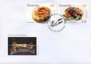 Slovenia 2017 FDC Belokranjska Povitica & Roast Lamb 2v Cover Gastronomy Stamps