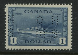 1942 $1 Destroyer OHMS type 4 perfin unmounted mint NH