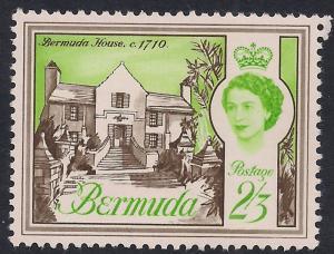 Bermuda 1962 - 68 QE2 2/-3d Bermuda House Umm SG 175 ( K760 )