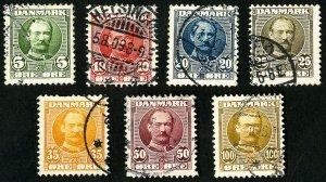 Denmark Stamps # 72-8 VF Used