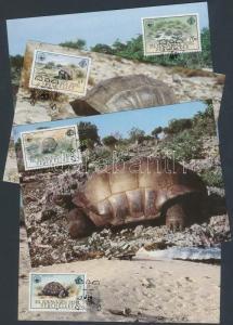 Seychelles-Zil Elwannyen Sesel stamp WWF Giant Tortoise Cover 1985 WS163399