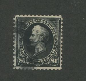 1897 United States Postage Stamp #276 Used VF Cork Postal Cancel