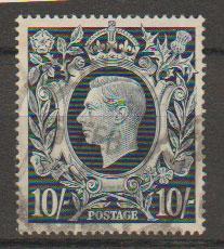GB George VI  SG 478ab Blot on Scroll variety- Used