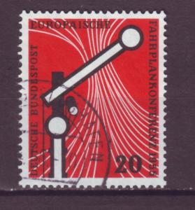 J16051 JLstamps 1955 germany set of 1 used #734 railroad