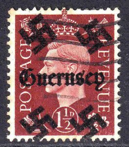 GREAT BRITAIN 1-1/2p GUERNSEY OVERPRINT USED XF SOUND