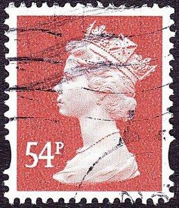 GREAT BRITAIN 2007 QEII 54p Red-Brown Machin SGY1724 FU