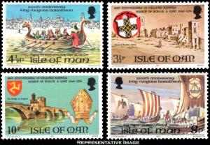 Isle Of Man MNH 44-7 Death Of Magnus Haraldson Ships 1974