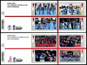 HERRICKSTAMP GREAT BRITAIN Sc.# 3897-98 ICC Cricket World Cup Sheetlets