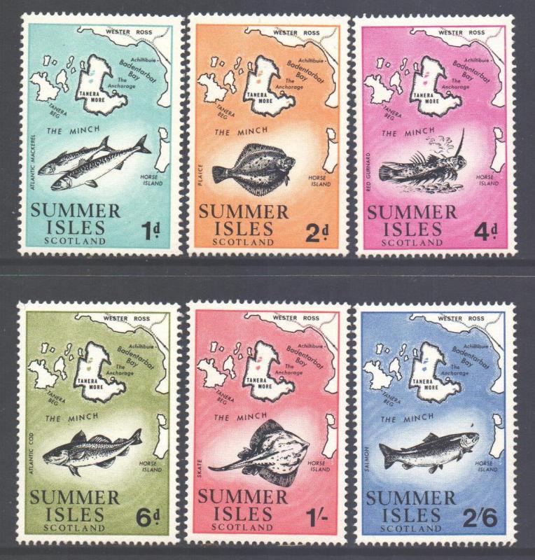 Summer Isles Scotland 1973 Set MNH**