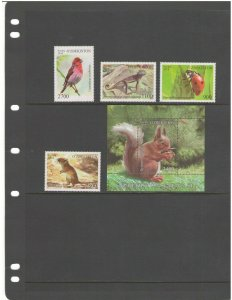 UZBEKISTAN: 2018 N I   / Beautiful**WILDLIFE ** / Set of 4 & SS / MNH.