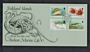 Falkland Islands:1994,  Inshore marine Life,  3 First Day Covers