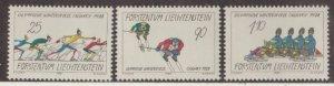Liechtenstein Scott #877-878-879 Stamps - Mint NH Set