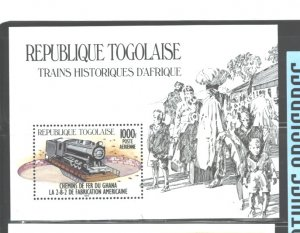REP. TOGOLAISE  1984 TRAINS MS   #1273   MNH