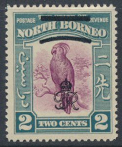 North Borneo  SG 336 SC# 224 MH    OPT GR Crown - See scans