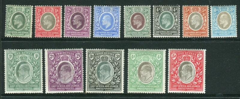 EAST AFRICA & UGANDA-1903-4  A lightly mounted mint set to 5r Sg 1-3