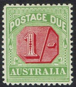 AUSTRALIA 1909 POSTAGE DUE 1/- WMK CROWN/A PERF 12 X 12.5