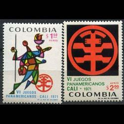 COLOMBIA 1971 - Scott# C542-3 Games Set of 2 NH creases