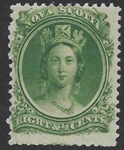 Nova Scotia 11   1860   8 1/2 cent green  fine mint hinged