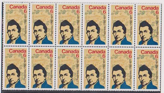 Canada USC #539ii Mint Block of 12 - F/MF Cat. $42. Papineau 6c