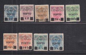 YUGOSLAVIA  SC# 1LJ14-22  FVF/MOG  1919