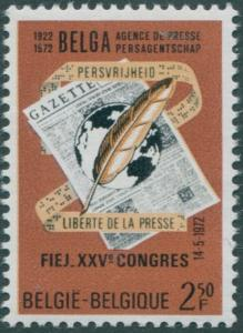 Belgium 1972 SG2273 2f.50 Quill Pen and Newspaper MNH