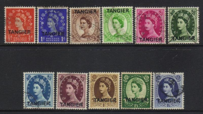 MOROCCO AGENCIES 1937 TANGIER INTL ZONE DEFINS 11 USED VALUES CAT £24+
