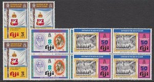 FIJI 1974 Independence set MNH blocks of 4..................................A884