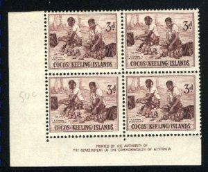 Cocos Islands #1   PB Mint NH VF 1963 PD