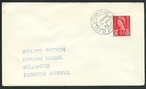 GB SCOTLAND 1970 cover LOCHBOISDALE / ISLE OF SOUTH UIST cds...............66306