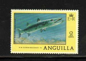 ANGUILLA #276  1977  2c GREAT BARRACUDA     MINT VF NH  O.G