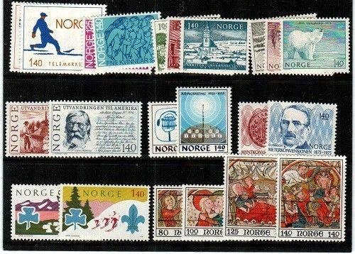 Norway Scott 647-68 Mint hinged (1975 Comm. Year Set) - Catalog Value $24.55