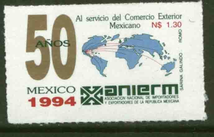 MEXICO 1868 50th Anniv of Assn of Importers & Exporters MINT, NH. VF.