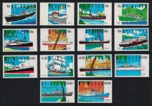 St. Kitts Ships 14v SG#312-325