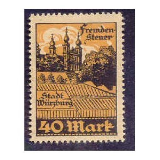 Germany - Wurzburg 40M Municipal Revenue Stamp
